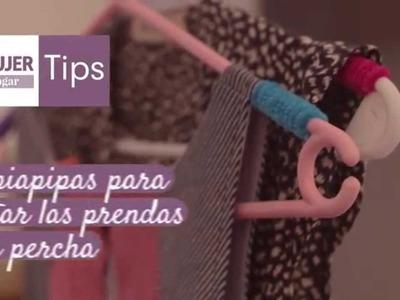 Tips hogar | Limpiapipas para sujetar las prendas en la percha | @iMujerHogar