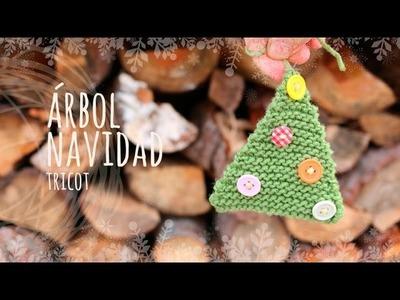 Tutorial Árbol Navidad Fácil Tricot (Dos agujas)