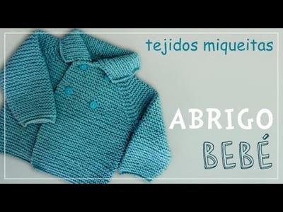 Tutorial para tejer abrigo para niño o niña en dos agujas