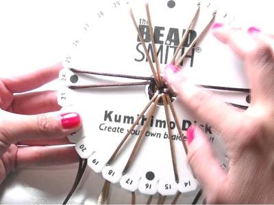 Abalorios manualidades - Pulsera a Espiral con Telar Kumihimo