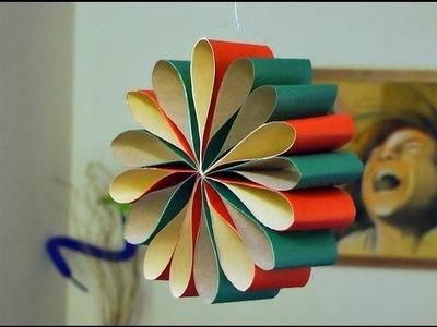 Adorno para Navidad - Flor para colgar o decorar la mesa - Manualidades para todos