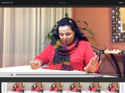 Bufanda caracoles - Punto peruano - Tejiendo con Laura Cepeda