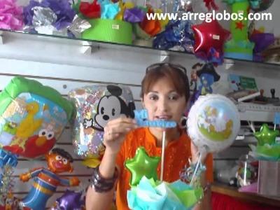 Centro de mesa Bautizo www.arreglobos.com