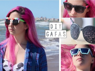 DECORAR LENTES DE SOL ✩ DIY gafas - Ann Look