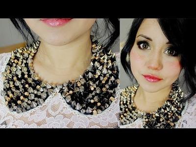 DIY collar cuellito y maquillaje 2 en 1 ♥ con Miku :3