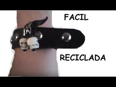 DIY PULSERA RECICLADA ROCKERA O GOTHICA