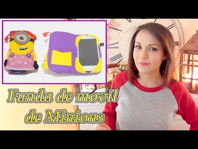 Funda de movil de minion de fieltro y SORTEO video colaborativo con Victor-Vic Isa ❤️