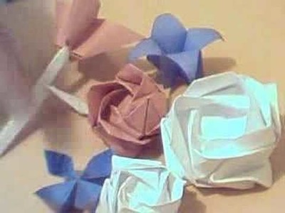 Modelos de flores de papel