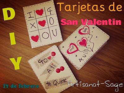 Tarjetas para San valentin, 14 de febrero-DIY-How to