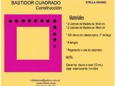 TELAR CUADRADO: CONSTRUCCION