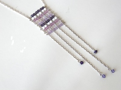 Abalorios - Collar con cadena y facetadas de bohemia