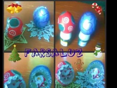 Adorno navideño ( con cascaras de huevo)