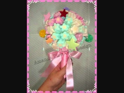 Buques de marshmallow e pirulitos de Amanda Pina Cake Design.wmv