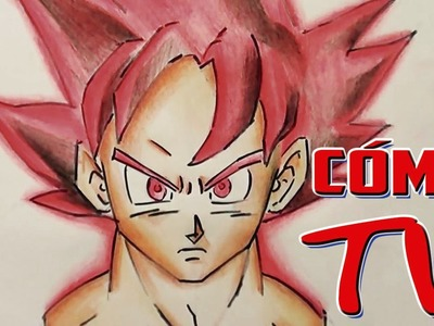 COMO DIBUJAR A GOKU FASE DIOS !!!!. Drawing Goku God
