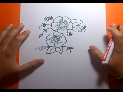Como dibujar flores paso a paso 2  | How to draw flowers 2