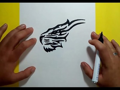 Como dibujar un tigre tribal paso a paso | How to draw a tribal tiger