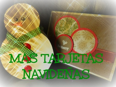 Como hacer tarjetas navideñas - How to make christmas cards