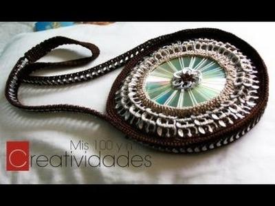 Como hacer un bolso con fichas tutorial: Bolso con CD y anillas parte 3