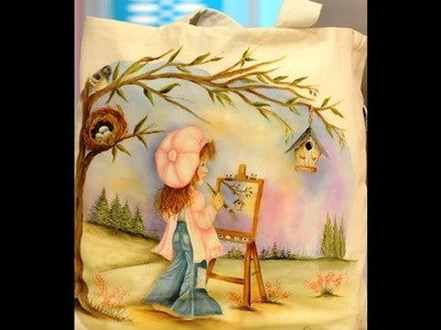 Como pintar sobre tela - Reciclar una camisa - Ana Maria Paravic