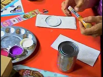 DETALLS MAGICOS CON MIMILUNA Tecnica decoracion de latas  parte 2