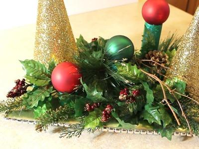 DIY Centro de Mesa Navideño - Christmas Centerpiece