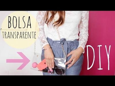 DIY : Como hacer una Bolsa transparente (FACIL & BARATO) | ellie