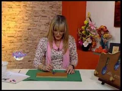 Mónica Sayous - Bienvenidas TV - Pinta un perchero con hortensias