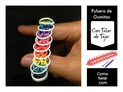 RainbowLoom en ESPAñOL Pulsera de Gomitas sin Telar Rainbow loom Telar