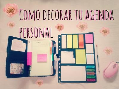 TIPS: decora el interior de tu agenda  -cuardernos -libros y mas. !!