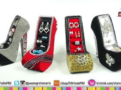 4 Diseños de Zapato Alhajero. High Heel Jewelry Holde
