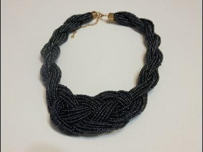 Collar de bolitas con nudo marinero. DIY