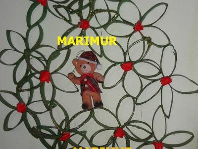 COMO HACER CORONA NAVIDEÑA CON CILINDROS DE PAPEL MARIMUR 560