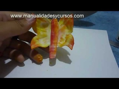 Como hacer mariposa en goma eva para brochette de dulces- How to make a foam butterfly for kids
