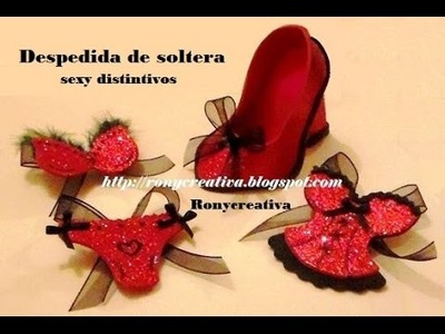 Cómo hacer SEXY-DISTINTIVOS PARA DESPEDIDA DE SOLTERA.HEN PARTY SOUVENIRS DIY