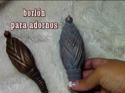 COMO HACER UN TAPÓN DE ADORNO PARA BOTELLAS Y MAS
