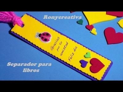 COMO HACER UN UTIL SEPARADOR DE LIBROS. BOOK  GIFT DIY