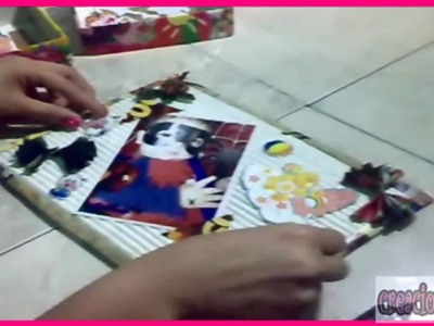 Crea tu porta retrato con material reciclable (cartón y revistas)