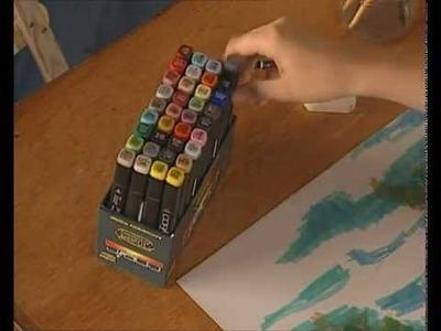 Curso practico de dibujo y pintura   rotuladores disolucion del color