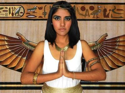 Disfraz de Halloween Cleopatra Tutorial de disfraz inspirado en Elizabeth Taylor maquillaje
