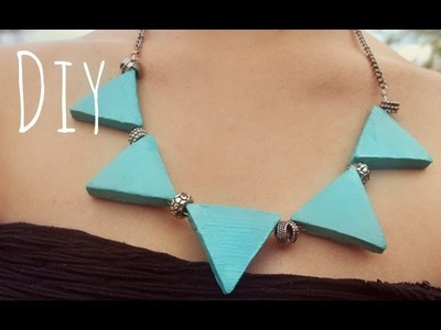 DIY collar geométrico ∆ Geometric necklace
