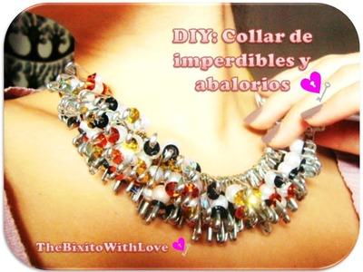 DIY  Hazlo tu mismo  collar con imperdibles