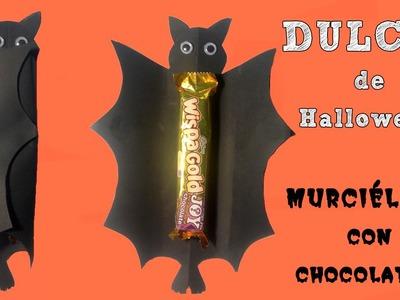Dulcero para halloween  Murciélago con sorpresa