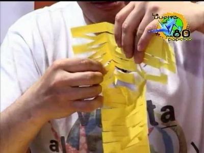 Guirnalda o feston de papel en Kirigami