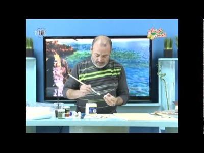 Manualidades Van Gogh   Espejo con bandejas de plumavit MosaicosParte 2