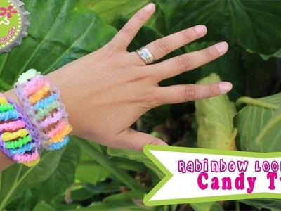 Rainbow Loom: Pulsera Candy Twist (de ligas o gomitas)