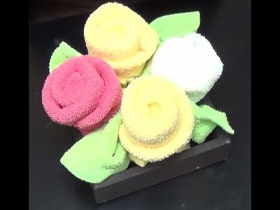 Rosas de toallas
