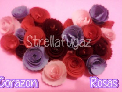 Video fugaz: corazon con rosas