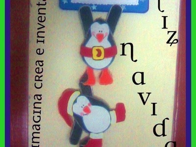 Adorno navideño (Pingüinos de foami o goma eva )
