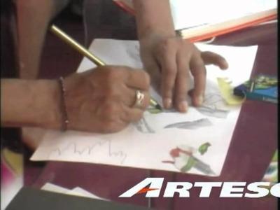 ARTE FRANCES EN PERGAMINO CON COLORES ARTESCO 41