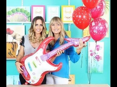 Como decorar cookies, globos y pintura - Fiesta Rock
